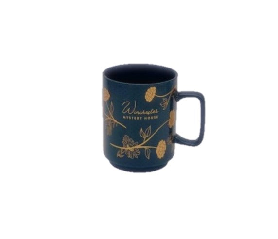 Winchester Mystery House Black and Gold Mug