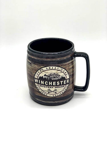 Wooden Barrel Winchester Mystery House Mug