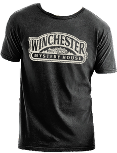 black winchester mystery house logo t-shirt