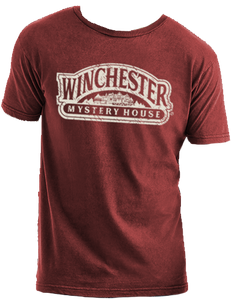 red winchester mystery house logo t-shirt