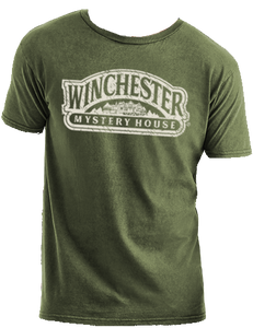 green winchester mystery house logo t-shirt