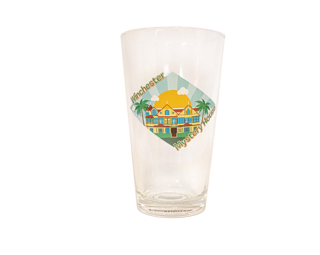 Diorama Winchester Mystery House Pint Glass