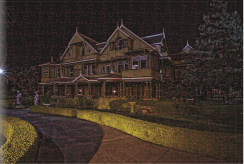 Night View Winchester Mystery House Puzzle