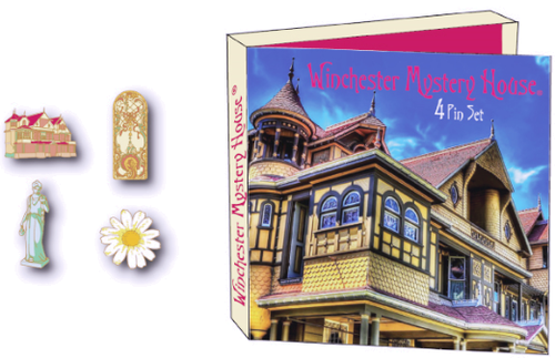 Four Peice WInchester Mystery House Pin Set