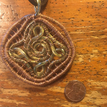 Quadruple Loop Copper Lamp Cord Pendant