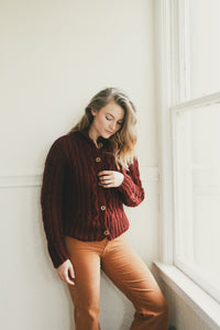 Douglas Sweater Burgundy
