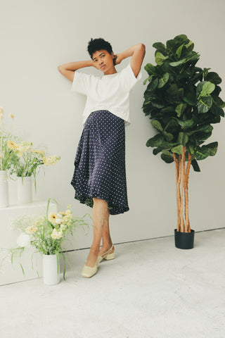 Navy Dot Hutson Skirt
