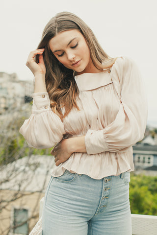 Pink Shell Allegra Blouse