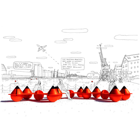 London Festival of Architecture Polyform A5 Buoys