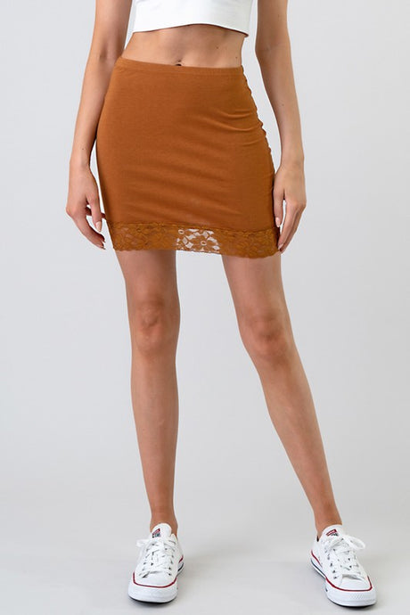 Clarissa Mini Skirt-Terra Cotta