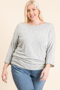 Curvy Gathered Back Gia Top