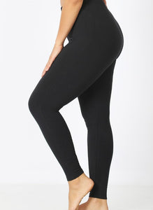 Curvy Everyday Leggings -Black