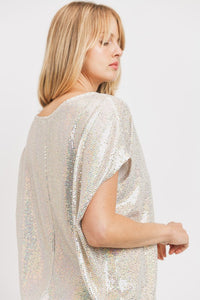 Starlight Sequined Dolman Top