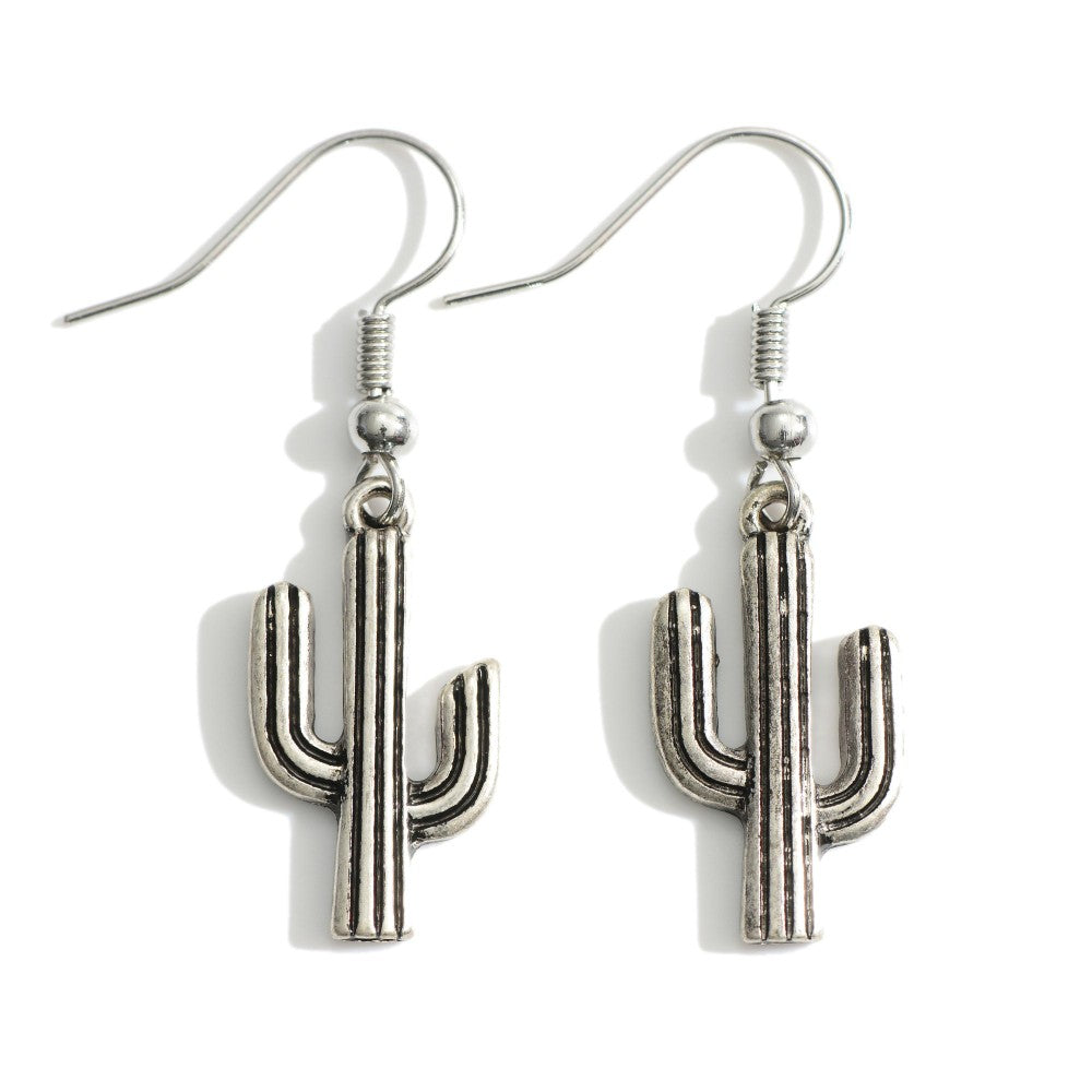 Saguaro Earrings-Silver