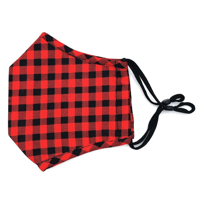 Face Mask- Red Buffalo Plaid