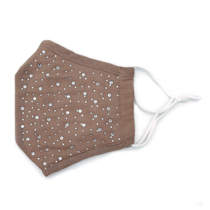 Face Mask- Taupe Sparkle