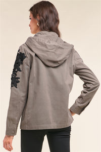 Floral Patched Jacket