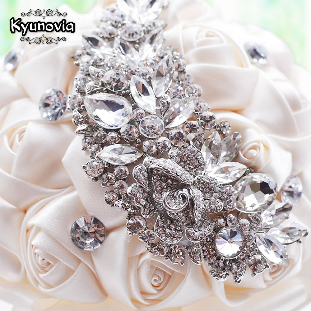 Kyunovia Crystal Wedding Bouquet Red Brooch Bouquet Wedding