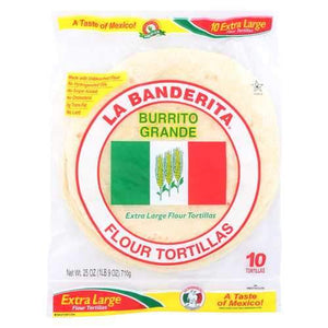 La Banderita Grande Tortilla - Burrito - Case of 12 - 25 oz.