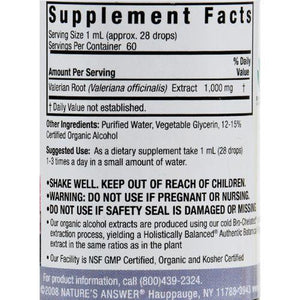 Nature's Answer Valerian Root - 2 fl oz