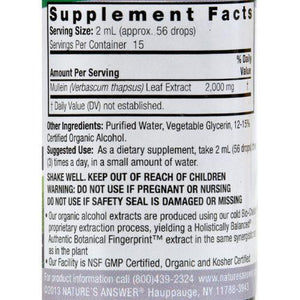 Nature's Answer Mullein Leaf - 1 fl oz
