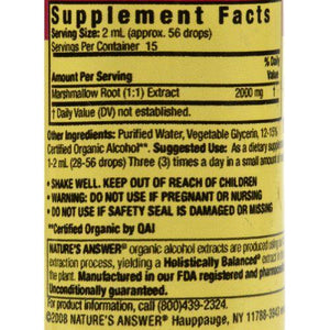 Nature's Answer Marshmallow Root - 1 fl oz