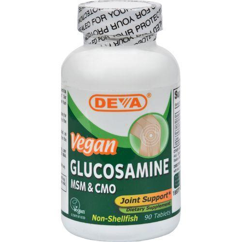Deva Vegan Glucosamine MSM and CMO - 90 Tablets