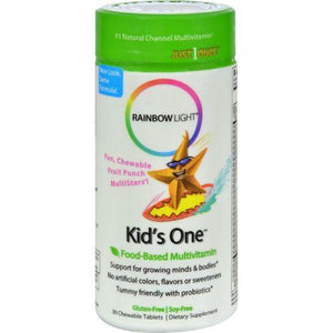 Rainbow Light Kids One MultiStars Fruit Punch - 30 Chewable Tablets