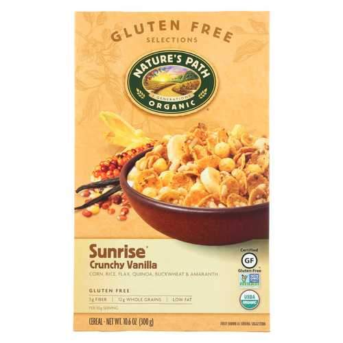 Nature's Path Crunchy Vanilla - Sunrise - Case of 12 - 10.6 oz.