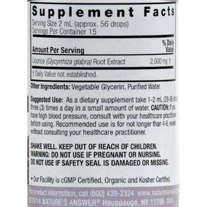Nature's Answer Licorice Root - 1 fl oz