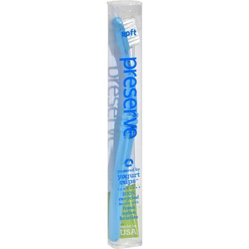 Preserve Toothbrush in a Travel Case, Soft - 6 Pack - Assorted Colors
