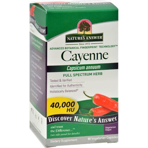 Nature's Answer Cayenne Pepper Fruit - 90 Vegetarian Capsules
