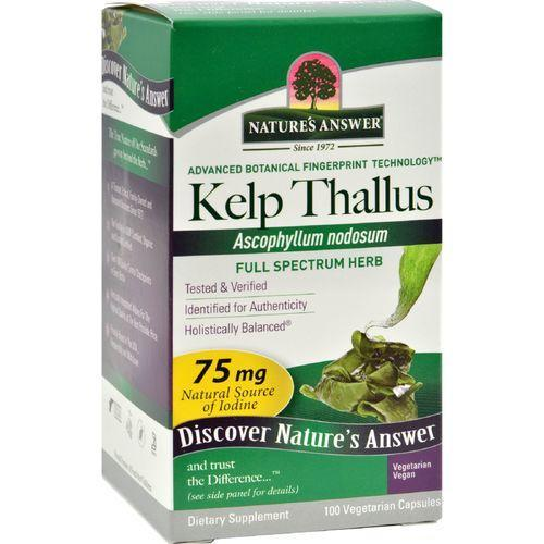Nature's Answer Kelp Thallus - 100 Capsules