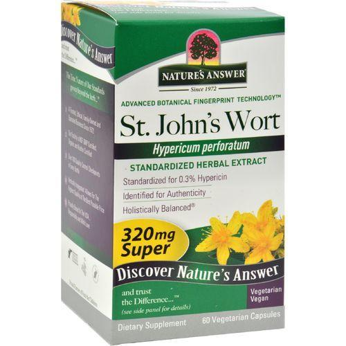 Nature's Answer Super St John's Wort Herb Extract - 60 Vegetarian Capsules