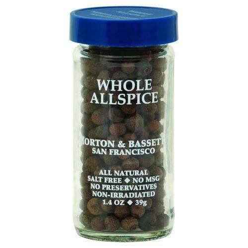 Morton and Bassett Seasoning - Allspice - Whole - 1.4 oz - Case of 3