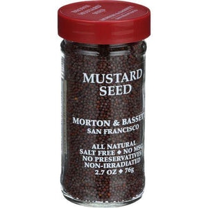 Morton and Bassett Seasoning - Mustard Seed - Brown - 2.7 oz - Case of 3