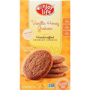 Enjoy Life Cookie - Crunchy - Vanilla Honey Graham - Gluten Free - 6.3 oz - case of 6
