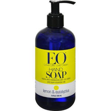 EO Products Liquid Hand Soap Lemon and Eucalyptus - 12 fl oz