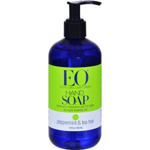 EO Products Liquid Hand Soap Peppermint and Tea Tree - 12 fl oz