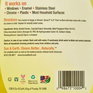 Sun and Earth Natural Glass Cleaner - 22 fl oz