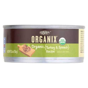 Castor and Pollux Organic Cat Food - Turkey and Spinach - Case of 24 - 5.5 oz.