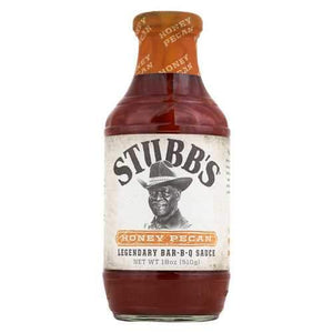 Stubb's BBQ Sauce - Honey Pecan - Case of 6 - 18 Fl oz.