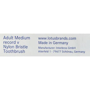 Fuchs Adult Medium Record V Nylon Bristle Toothbrush - 1 Toothbrush - Case of 10