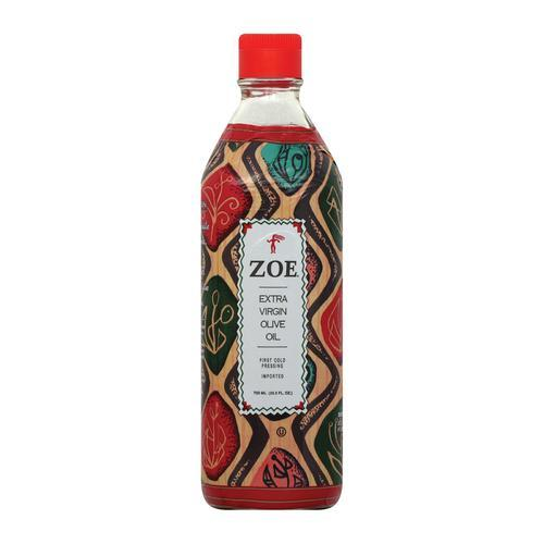 Zoe Olive Oil - First Cold Pressed - Case of 6 - 25.5 Fl oz.