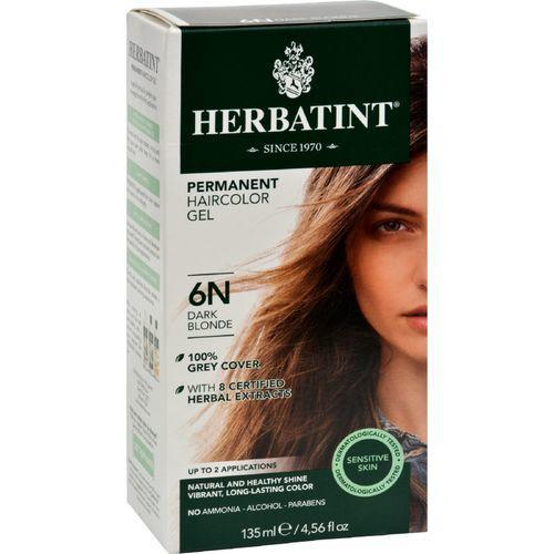 Herbatint Permanent Herbal Haircolour Gel 6N Dark Blonde - 135 ml