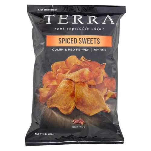 Terra Chips Sweet Potato Chips - Spiced Sweets - Case of 12 - 6 oz