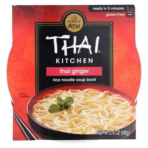 Thai Kitchen Rice Noodle Soup Bowl - Thai Ginger - Case of 6 - 2.4 oz.