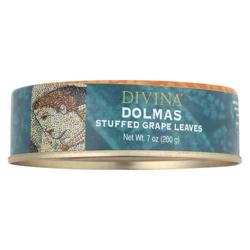 Divina Dolmas Stuffed Grape Leaves - Case of 12 - 7 oz.
