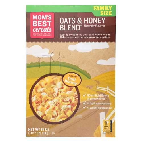 Mom's Best Naturals Oats and Honey Blend - Case of 14 - 18 oz.