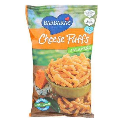 Barbara's Bakery Cheese Puffs - Jalapeno - Case of 12 - 7 oz.